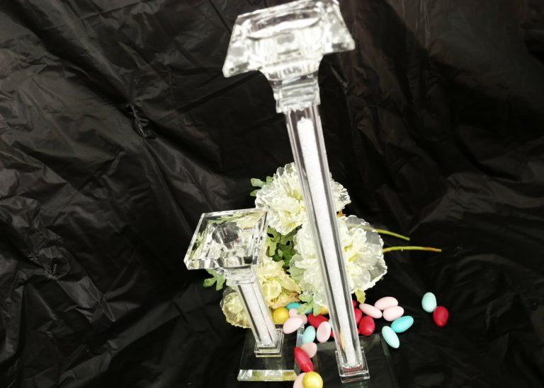 Bomboniera testimoni Candelabri in cristallo